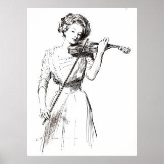 Violinista 1910 póster