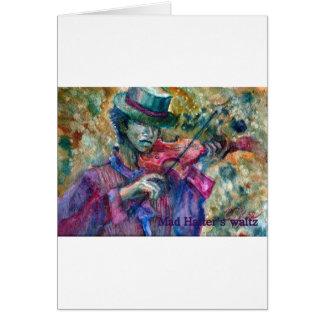 violinista con el sombrero de copa tarjeta de felicitación