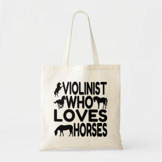 Violinista del amante del caballo bolsa tela barata