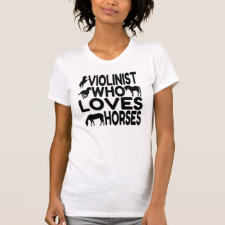 Violinista del amante del caballo camiseta