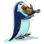 Violinista del pingüino esculturas fotograficas