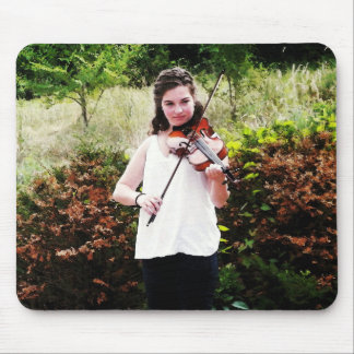 Violinista joven mouse pad