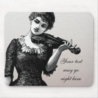 Violinista Mousepad del vintage