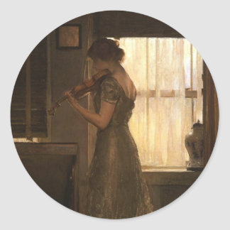 Violinista Pegatina Redonda