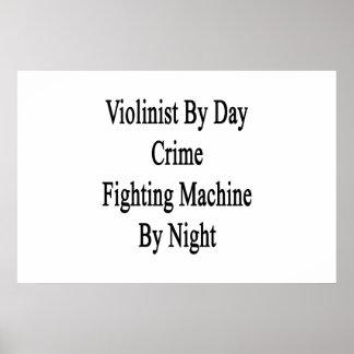 Violinista por la máquina que lucha del crimen del póster