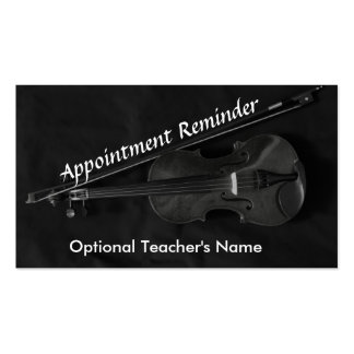 Violinistic Appointment Card Business Card