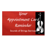 Violinistic Appointment Card (red) Business Card