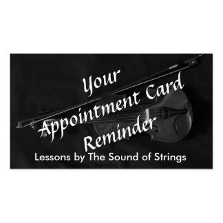Violinistic Appointment Card red Business Card