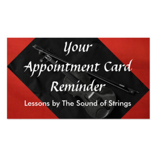 Violinistic Appointment Card red Business Cards