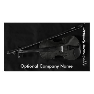 Violinistic Appointment Card red Business Card Template