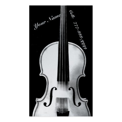 Violinistic Business Card Template