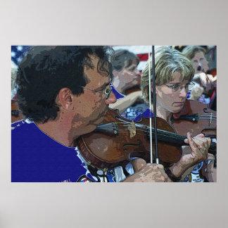 Violinists, Genoa Print