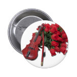 ViolinOnBouquetRoses012511 2 Inch Round Button