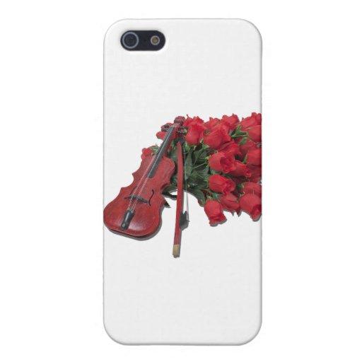 ViolinOnBouquetRoses012511 iPhone 5 Protector