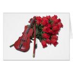 ViolinOnBouquetRoses012511 Tarjetas