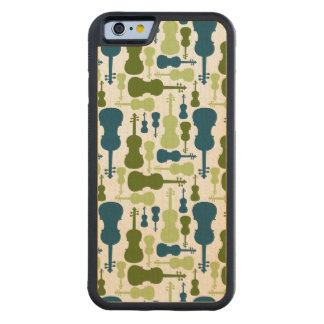 Violins - Blue and Green Pattern Carved Maple iPhone 6 Bumper Case