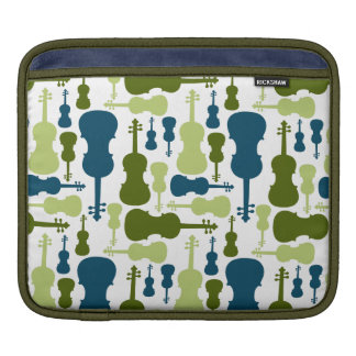 Violins - Blue and Green Pattern iPad Sleeves