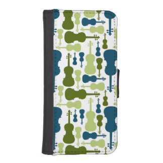 Violins - Blue and Green Pattern iPhone SE/5/5s Wallet