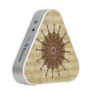 Violins Comprising Sunflower on Gold Stripes Bluetooth Speaker
