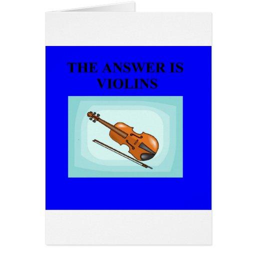VIOLINS GREETING CARDS
