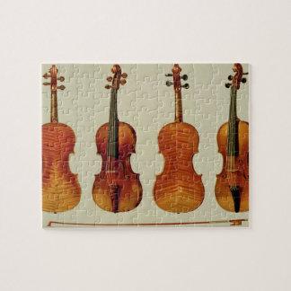 Violins (LtoR): the 'Alard' by Antonio Stradivariu Jigsaw Puzzle