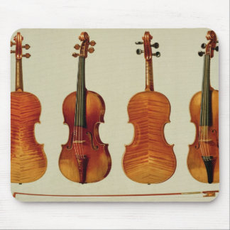 Violins (LtoR): the 'Alard' by Antonio Stradivariu Mouse Pad