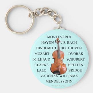 Violist Composers Basic Round Button Keychain