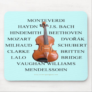 Violist Composers Mouse Pads