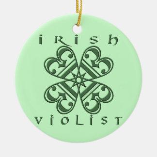 Violist irlandés ornaments para arbol de navidad