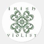 Violist irlandés pegatinas redondas
