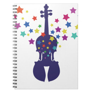 Violn Star Tote Bag, Keychains or Button Notebook