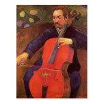 Violoncelista de Paul Gauguin-, retrato de Upaupa  Tarjeta Postal