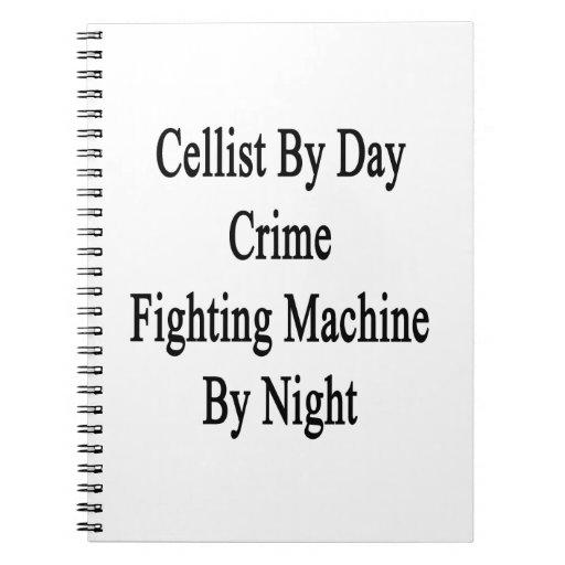 Violoncelista por la máquina que lucha del crimen  libro de apuntes con espiral