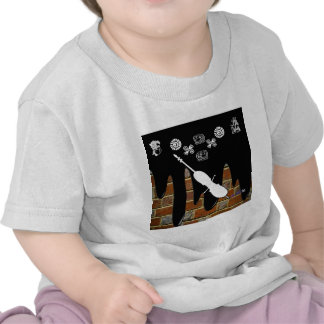 VIOLONCELO BRICK BACKGROUND PRODUCTS TSHIRTS