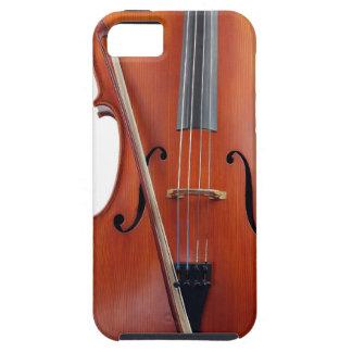 Violoncelo con el arco, cierre para arriba iPhone 5 Case-Mate protectores