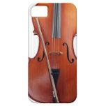 Violoncelo con el arco, cierre para arriba iPhone 5 Case-Mate fundas