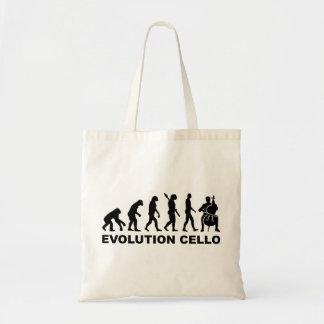 Violoncelo de la evolución bolsa de mano
