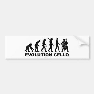 Violoncelo de la evolución pegatina de parachoque