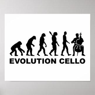 Violoncelo de la evolución póster