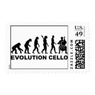 Violoncelo de la evolución sellos