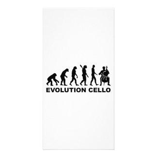 Violoncelo de la evolución tarjeta con foto personalizada