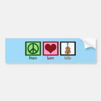 Violoncelo del amor de la paz pegatina para auto