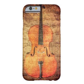 Violoncelo del vintage funda para iPhone 6 barely there