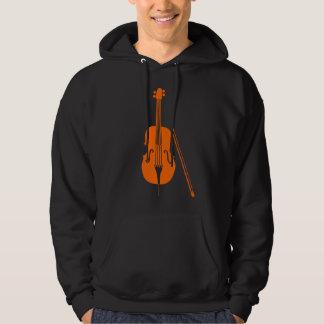 Violoncelo - naranja pulóver con capucha