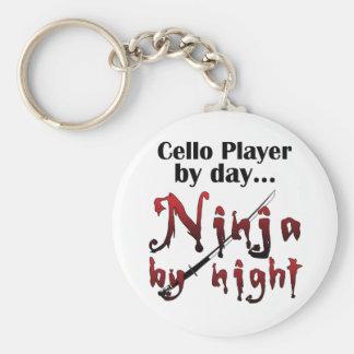 Violoncelo Ninja Llavero Redondo Tipo Pin