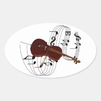 Violoncelo Pegatinas De Oval Personalizadas