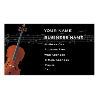 Violoncelo - tarjeta de la industria musical tarjetas de visita