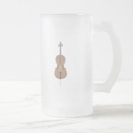 violoncelo tazas de café