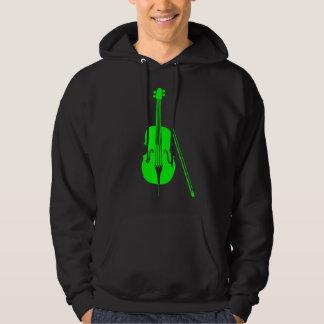 Violoncelo - verde sudaderas con capucha
