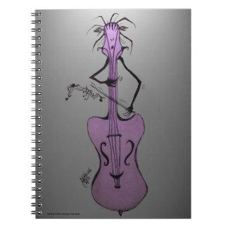 Violoncelo/verticalmente cuaderno de la banda de G